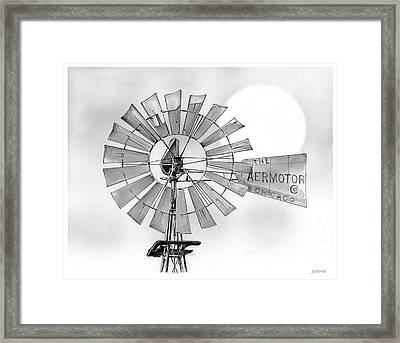 Prairie Sentinel Framed Print by Greg Joens