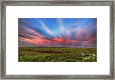 Prairie Skies Framed Print by Ian McGregor