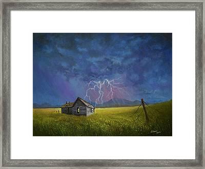 Prairie Storm Framed Print by C Steele