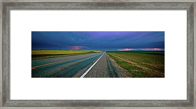 Prairie Storm Saskatchewan Framed Print by Mark Duffy