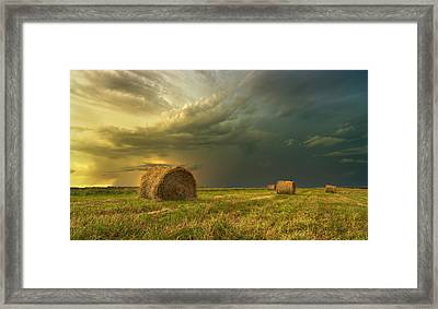 Prairie Storms Framed Print by Stuart Deacon