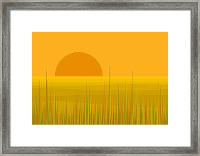 Prairie  Sundown Framed Print by Val Arie