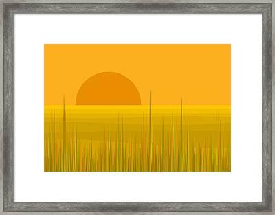 Prairie  Sundown Framed Print