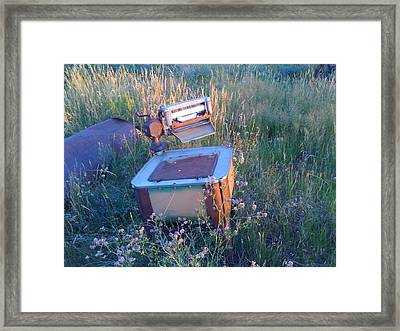 Prairie Washtub Framed Print by Louis Bergsagel