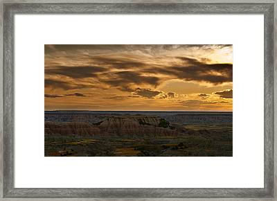Prairie Wind Overlook Badlands South Dakota Framed Print by Steve Gadomski
