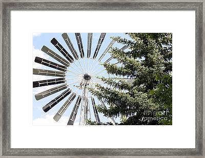 Framed Print featuring the photograph Prairie Windmill by Wilko Van de Kamp