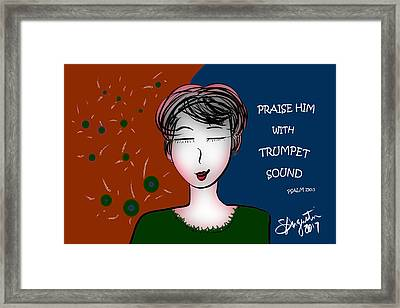 Praise Him With Trumpet Sound - Autumn Colors Framed Print