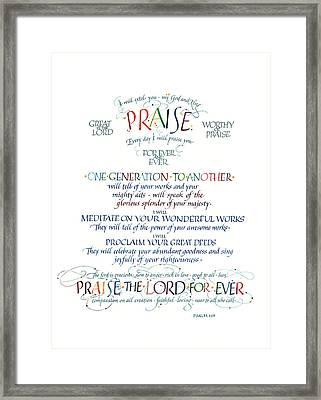 Praise Psalm 145 Framed Print