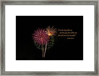 Framed Print featuring the photograph Praise The Lord by Larry Bishop