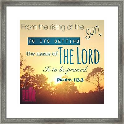 From The Rising Of The Sun Framed Print