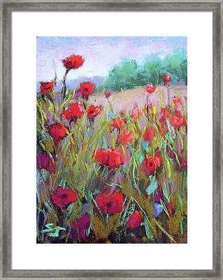 Praising Poppies Framed Print by Susan Jenkins