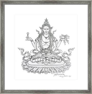 Prajnaparamita -perfection Of Wisdom Framed Print