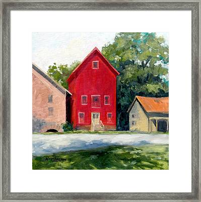 Prallsville Mill Summer Framed Print by Kit Dalton