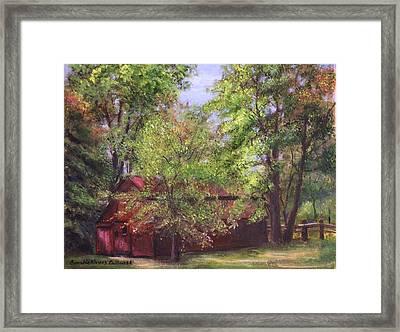 Prallsville Mills Stockton Nj Framed Print by Aurelia Nieves-Callwood