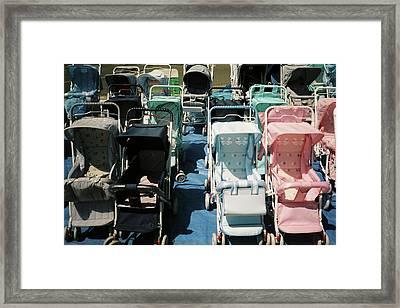 Pram Lot Framed Print