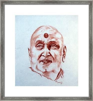 Pramukh Swami Maharaj Framed Print by Jayantilal Ranpara