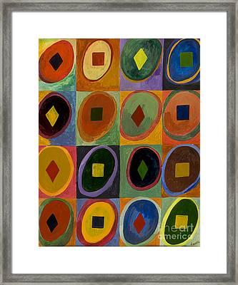 Prana Circles Framed Print