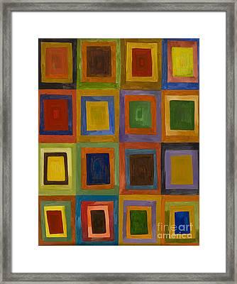 Prana Squares Framed Print