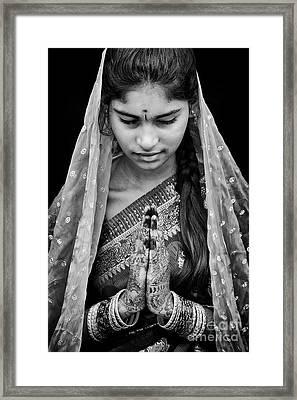 Pranams Monochrome Framed Print