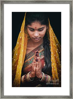 Pranams Framed Print