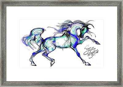 Prancing Arabian Horse Framed Print by Stacey Mayer