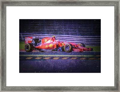 Prancing Horse Vettel Framed Print by Marvin Spates