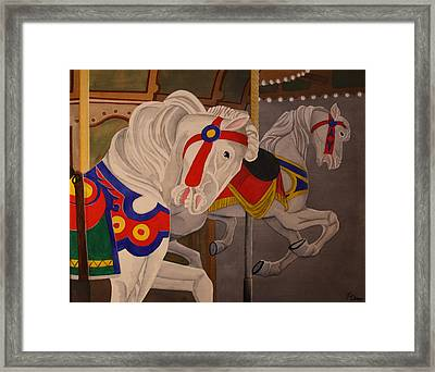 Framed Print featuring the painting Prancing Pair by Paul Amaranto