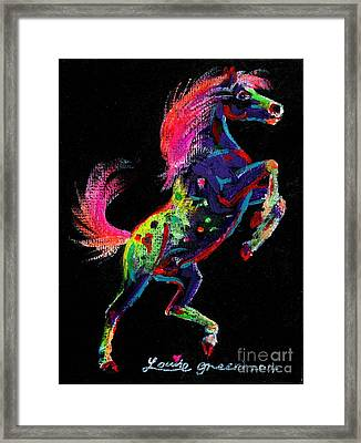 Prancing Pony Framed Print by Louise Green