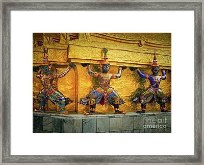 Prasatphradhepbidorn Golden Wall Framed Print
