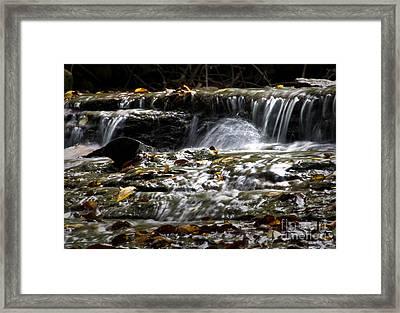Prather-creek-rapids Framed Print by Fred Lassmann