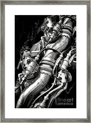 Pratt And Whitney Engine Framed Print by Olivier Le Queinec