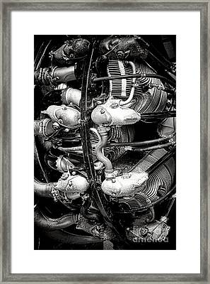 Pratt And Whitney Twin Wasp Framed Print by Olivier Le Queinec