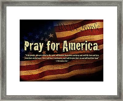Pray For America Framed Print