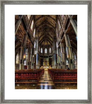 Cathedral In The Argentine Patagonia Framed Print
