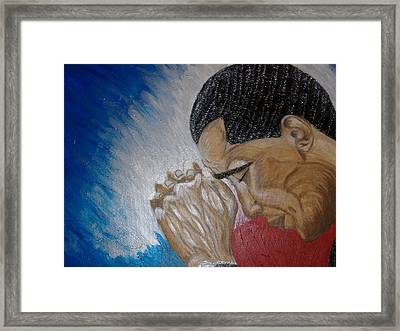 Pray For Peace Framed Print by Keenya  Woods
