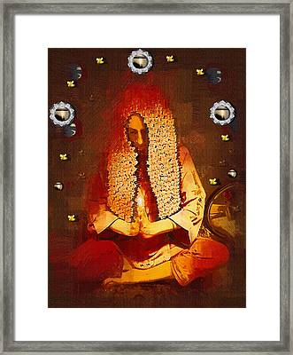 Pray For The Earth Framed Print by Pepita Selles