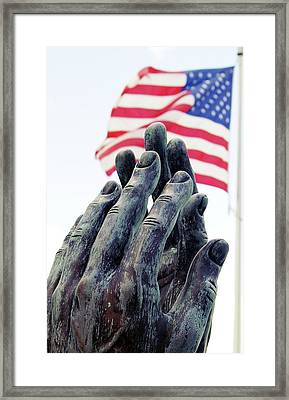 Pray For The Usa Framed Print