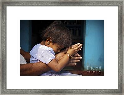 Pray Framed Print by Tim Gainey