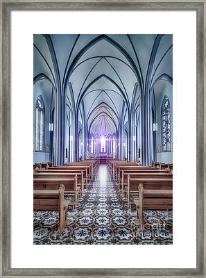 Prayer Arising Framed Print by Evelina Kremsdorf