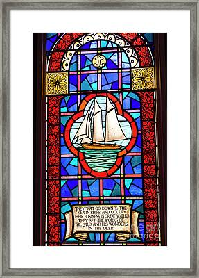 Prayer At Sea Framed Print