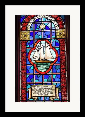 Psalm 107 Framed Prints