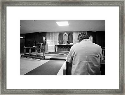 Prayer Before Mass Framed Print