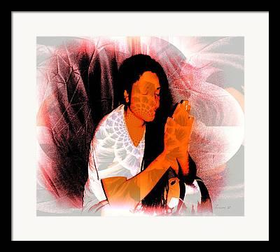 Yesayah Mixed Media Framed Prints