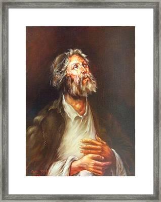 Prayer Framed Print by Ciprian Stratulat