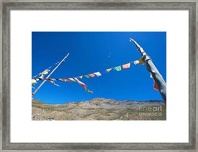 Framed Print featuring the photograph Prayer Flag by Yew Kwang