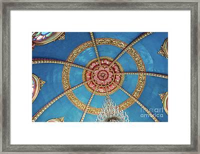 Prayer Hall Lotus Framed Print