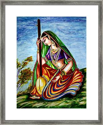 Krishna - Prayer Framed Print