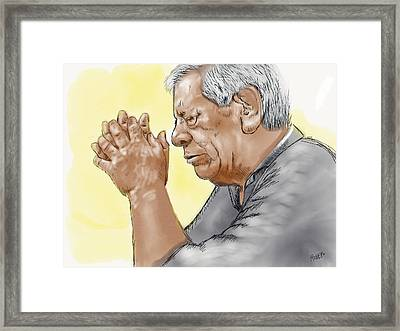 Framed Print featuring the painting Prayer Of A Righteous Man by Antonio Romero
