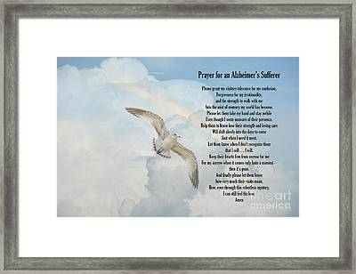Prayer For An Alzheimer's Sufferer Framed Print