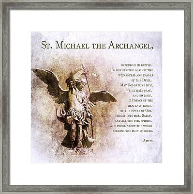graphic relating to St. Michael the Archangel Prayer Printable named Prayer Towards St. Michael The Archangel